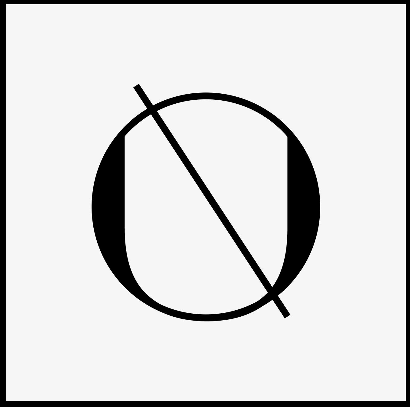 Logo cirkel wit op zwart